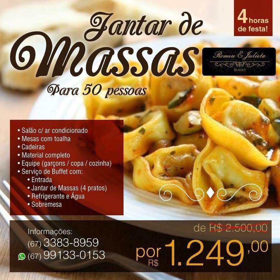 JANTAR DE MASSAS
